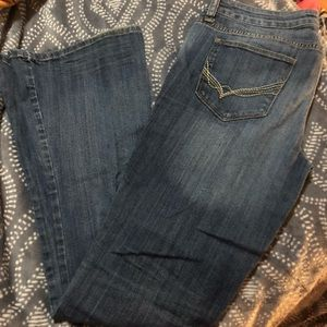 A.n.a brand low rise medium wash flare jeans